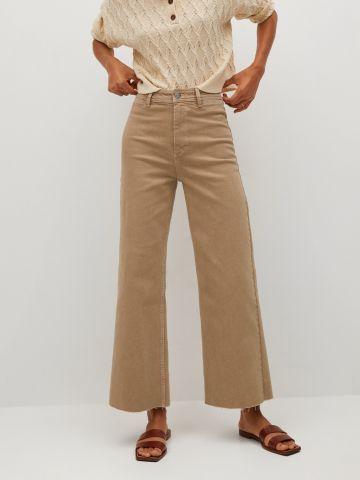 ג'ינס מתרחב בסיומת פרומה Culotte של MANGO