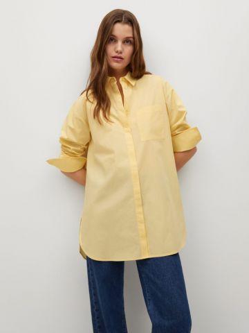 חולצה מכופתרת אוברסייז של MANGO