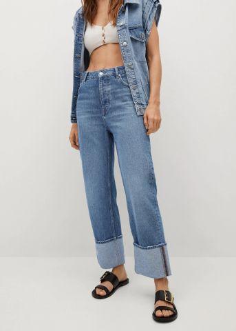 ג'ינס קרופ גזרה גבוהה של MANGO