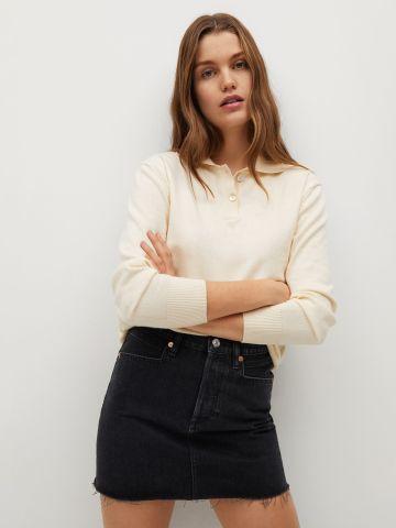 חצאית ג'ינס בסיומת פרומה של MANGO