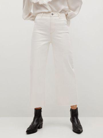 ג'ינס בגזרה רחבה Culotte של MANGO