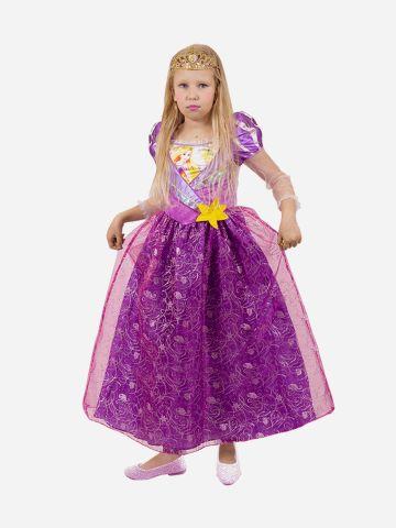 תחפושת הנסיכה רפונזל לילדות / תחפושת לפורים של SHOSHI ZOHAR