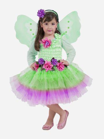 תחפושת פייה עם פרחים לילדות / תחפושת לפורים של SHOSHI ZOHAR