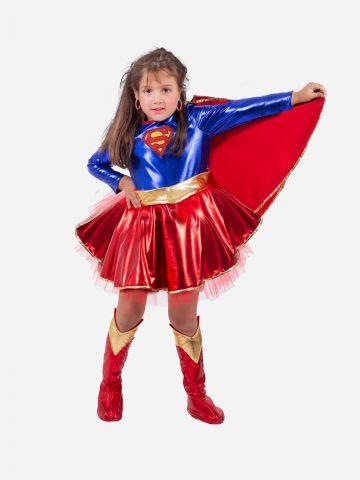 תחפושת סופרגירל Supergirl לילדות / תחפושת לפורים של SHOSHI ZOHAR