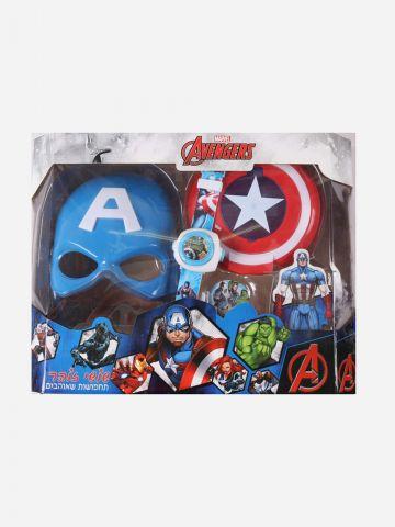 סט גיבורי על ענק בקופסא קפטן אמריקה של SHOSHI ZOHAR