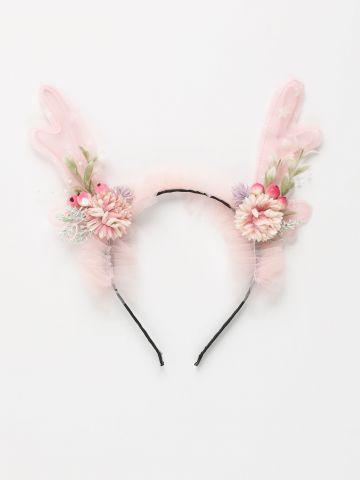 קשת קרניים עם פרחים / תחפושת לפורים של SHOSHI ZOHAR