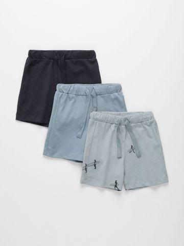 מארז 3 מכנסי פרנץ' טרי בצבעים שונים / 3M-4Y של TERMINAL X KIDS