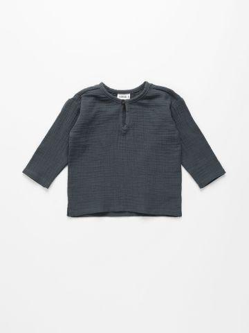 חולצת טטרה עם כפתור / 6M-4Y של TERMINAL X KIDS
