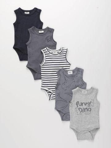 מארז 5 בגדי גוף קצרים בהדפס / 0-2Y של TERMINAL X KIDS