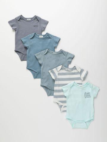 מארז 5 בגדי גוף בצבעים שונים / 0-2Y של TERMINAL X KIDS