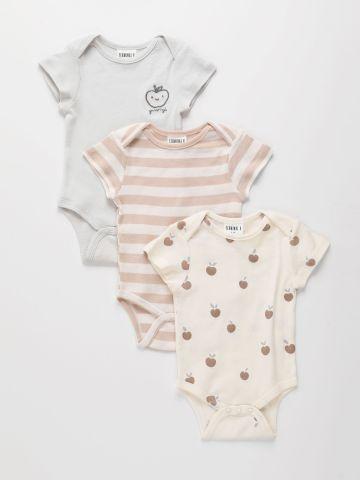 מארז 3 בגדי גוף בצבעים שונים / 0-2Y של TERMINAL X KIDS