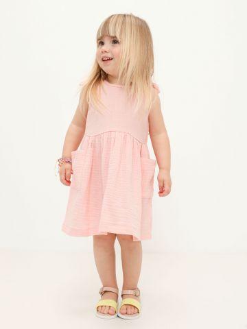 שמלת טטרה עם כתפיות קשירה / 6M-6Y של TERMINAL X KIDS