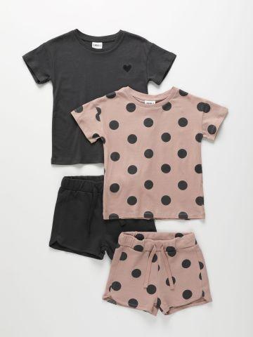 מארז 2 סטים טי שירט ומכנסי פרנץ' טרי בצבעים שונים / 6M-10Y של TERMINAL X KIDS