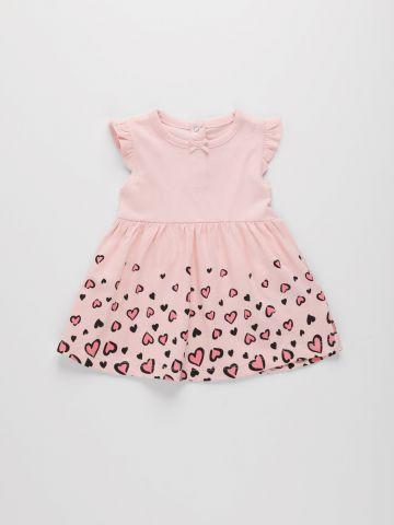 שמלה עם הדפס לבבות / 3M-3Y של FOX