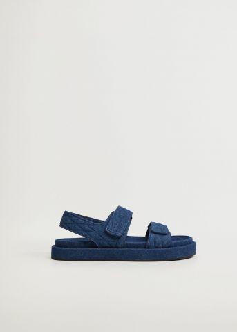 סנדלים דמוי ג'ינס עם פלטפורמה של MANGO