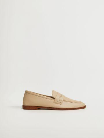 נעלי מוקסין עור / נשים של MANGO