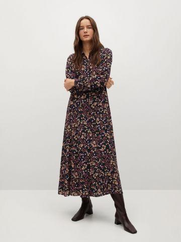 שמלת מידי מכופתרת בהדפס פרחים של MANGO