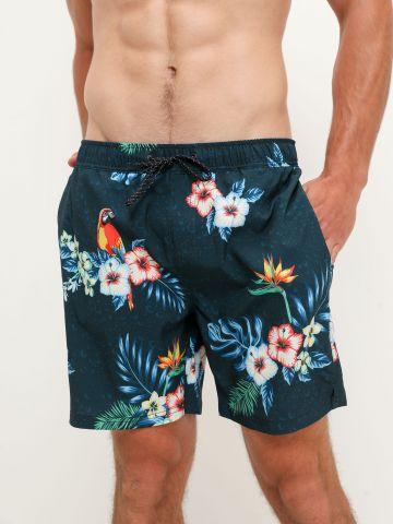 מכנסי בגד ים בהדפס פרחים של FOX