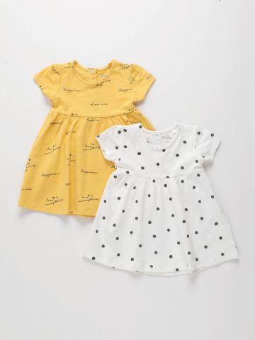 מארז 2 שמלות בהדפסים שונים / 3M-3Y של FOX