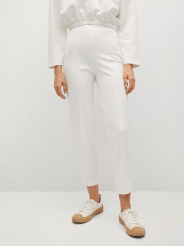 מכנסיים ארוכים חלקים של MANGO