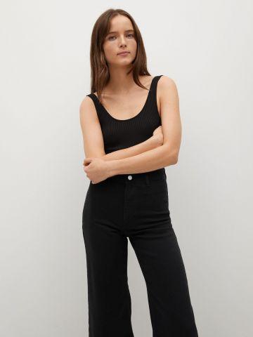 ג'ינס מתרחב עם סיומת גזורה Culotte של MANGO