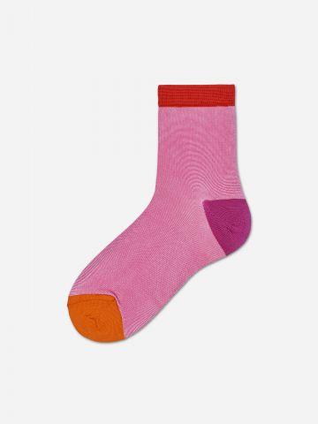 זוג גרביים קולור בלוק / נשים של HAPPY SOCKS