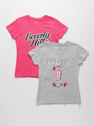 מארז 2 חולצות עם הדפסים שונים / בנות של FOX