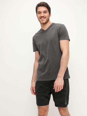 מכנסיים קצרים בהדפס קומופלאז' של FOX