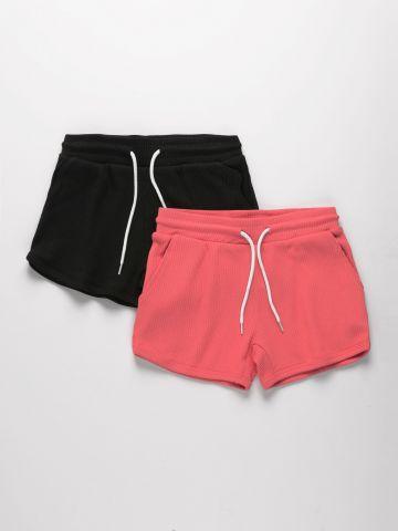 מארז 2 מכנסיים קצרים בצבעים שונים / בנות של FOX