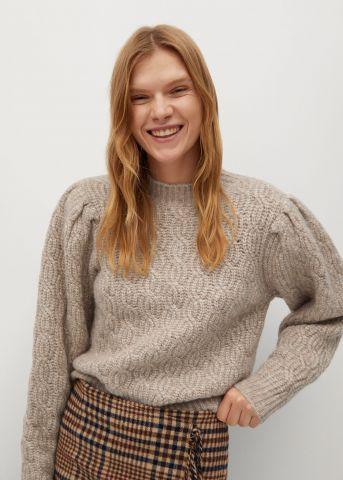 סוודר צמר בדוגמת קליעה של MANGO