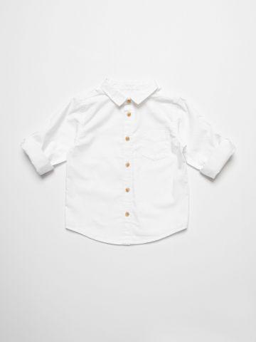 חולצה מכופתרת עם כיס / 3M-3Y של FOX