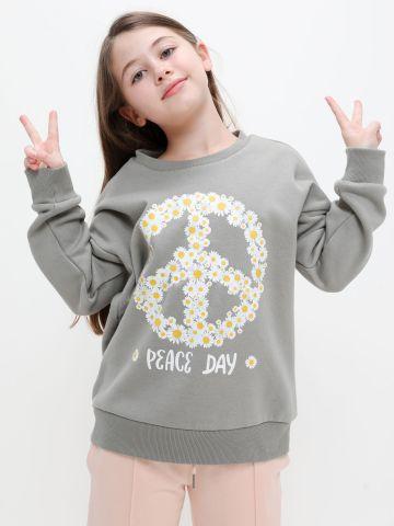 חולצת פוטר עם הדפס Peace של FOX