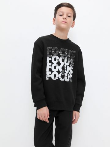 חולצת פוטר עם הדפס כיתוב של FOX