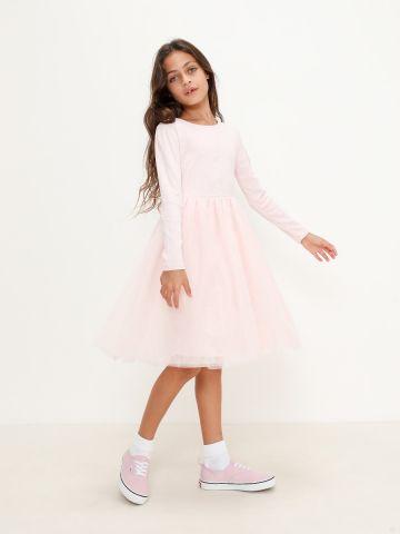 שמלה בשילוב טול של FOX