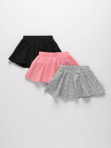 מארז 3 מכנס חצאית בצבעים שונים / 3M-6Y של FOX