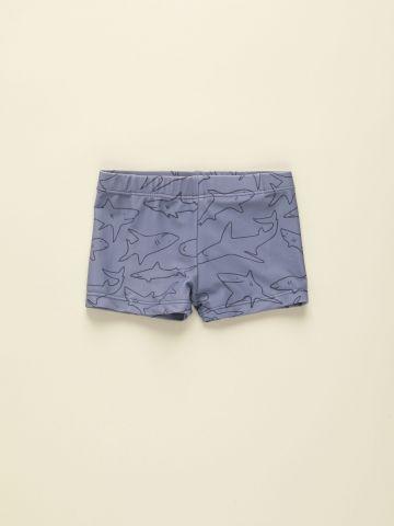 מכנסוני בגד ים בהדפס כרישים / 12M-5Y של TERMINAL X KIDS