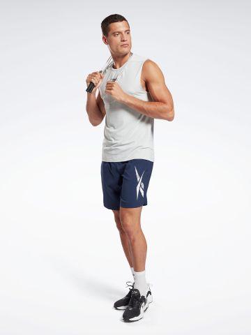מכנסי אימון קצרים עם לוגו של REEBOK