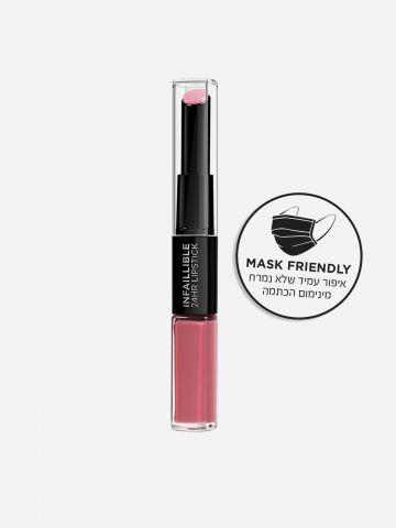 שפתון דו-צדדי עמיד אינפליבל לאסטינג גוון 109 Blossoming Berry של L'OREAL