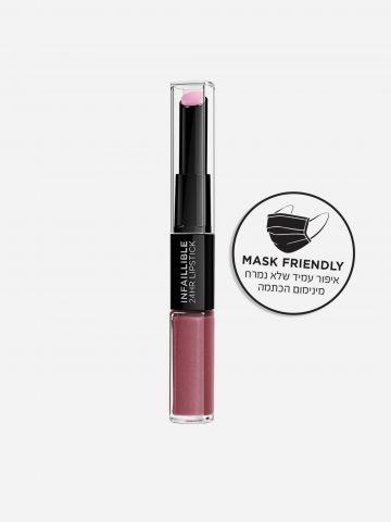 שפתון דו-צדדי עמיד אינפליבל לאסטינג גוון 209 Violet Parfait של L'OREAL