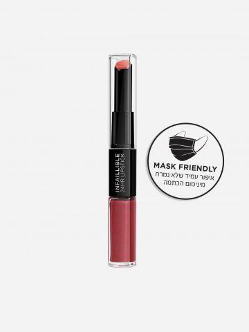 שפתון דו-צדדי עמיד אינפליבל לאסטינג גוון 507 Relentless Rouge של L'OREAL