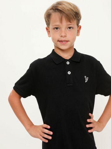 חולצת פולו עם רקמת לוגו של AMERICAN EAGLE