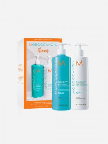 מארז שמפו ומרכך 500 מ״ל לשיקום השיער בשווי 308 ₪ של MOROCCANOIL