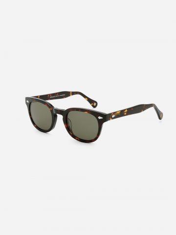 משקפי שמש עגולים עם מסגרת מנומרת / גברים של XRAY