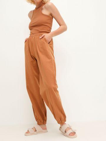 מכנסי טרנינג ארוכים ווש של TERMINAL X