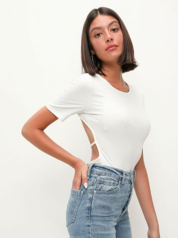בגד גוף ריב עם גב פתוח של TERMINAL X
