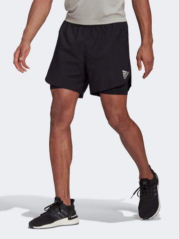מכנסי אימון קצרים עם טייץ פנימי של ADIDAS Performance