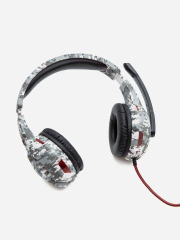 אוזניות קשת בהדפס פיקסלים / ילדים של YOLO
