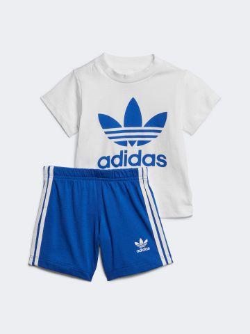 סט חולצה ומכנסיים עם לוגו המותג / 0-4Y של ADIDAS Originals