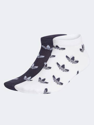 מארז 2 זוגות גרביים נמוכים בהדפס לוגו / נשים של ADIDAS Originals