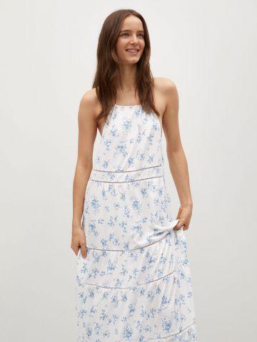 שמלת מקסי קומות בהדפס פרחים של MANGO
